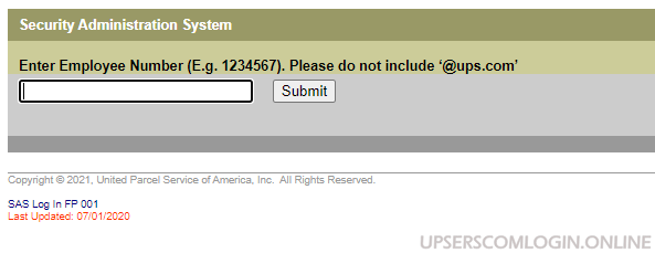 UPSers Security Administration System Page